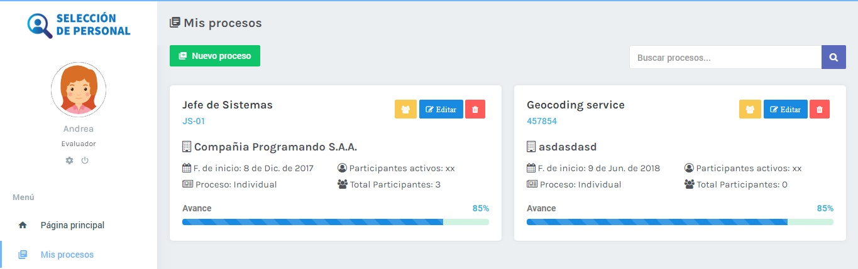 Evaluador | App de selección