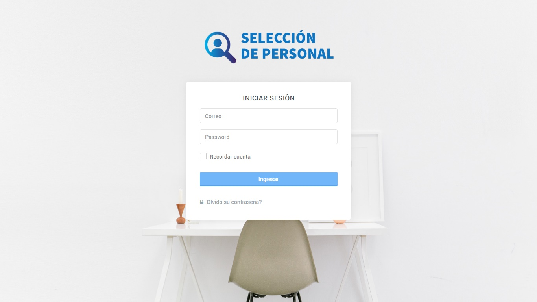 Inicio | App de selección