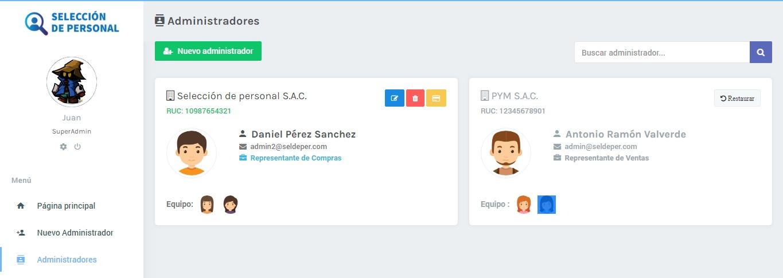 Super Administrador | App de selección